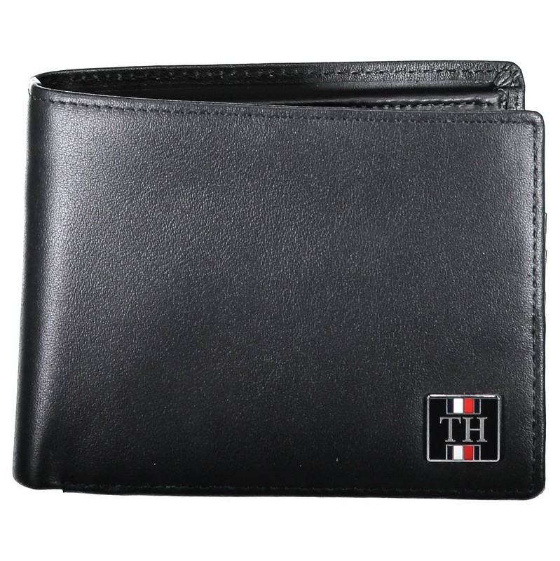 Ανδρικό δερμάτινο πορτοφόλι Tommy Hilfiger μαύρο