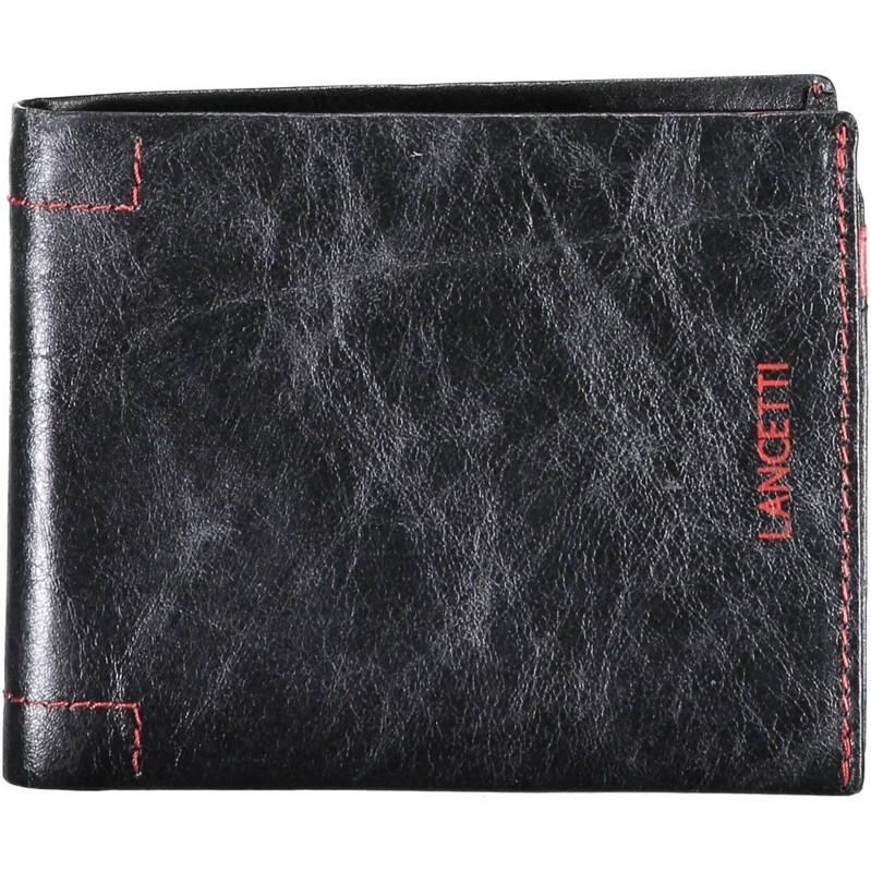 Ανδρικό δερμάτινο πορτοφόλι μαύρο