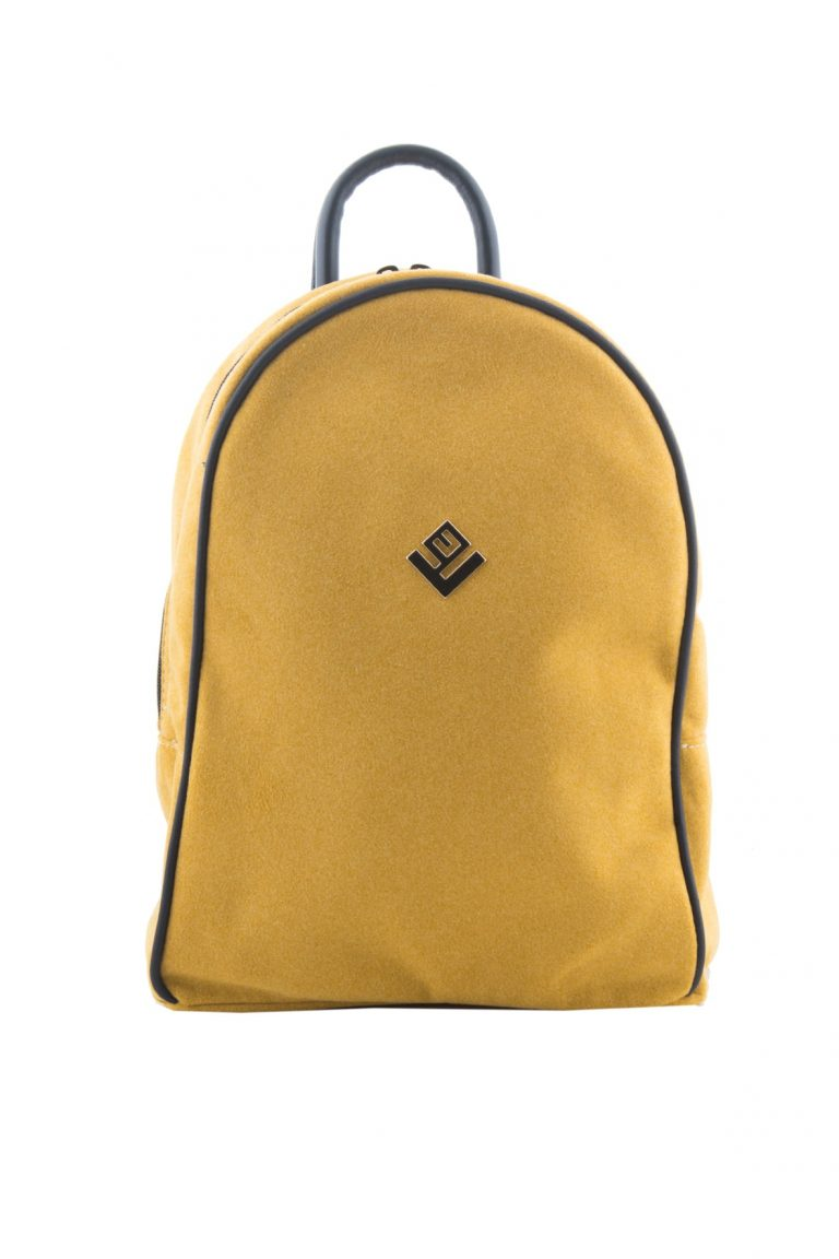 Γυναικεία τσάντα πλάτης Lovely Handmade Basic Simple Felt 9BP-W-46 Mustard