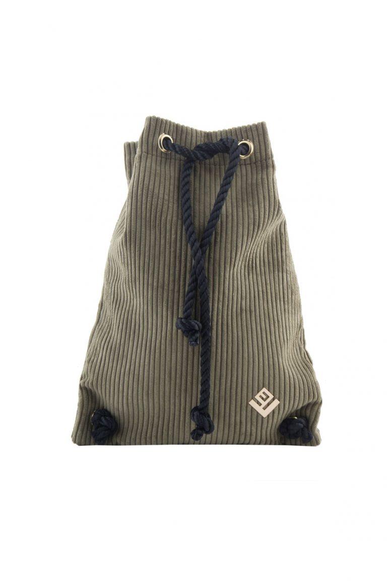 Γυναικεία τσάντα πλάτης Lovely Handmade Dourvas Kotle 9D-FU-30 Olive