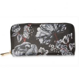 Γυναικείο Πορτοφόλι Anna Grace AGP1108 - Black / White Floral