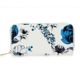 Γυναικείο Πορτοφόλι Anna Grace AGP1108 - White / Blue Floral