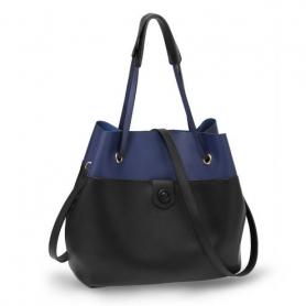 Γυναικεία Τσάντα Ώμου (Hobo) AG00190B - Black / Blue
