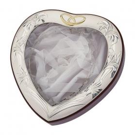 Ασημένια Στεφανοθήκη Καρδιά MA/ST26