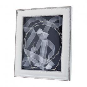 Ασημένια Στεφανοθήκη Κορνίζα MA/ST28-W white