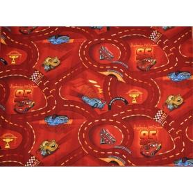 Παιδική μοκέτα Disney Cars Red (1,40×2,00 cm)