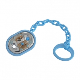 Βρεφικό κλιπ για πιπίλα με ασήμι γαλάζιο MA/PO005AC