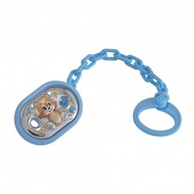 Βρεφικό κλιπ για πιπίλα με ασήμι γαλάζιο MA/PO005LC