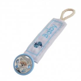 Βρεφικό κλιπ για πιπίλα με ασήμι γαλάζιο MA/PY001-AC