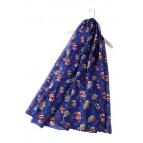 Χριστουγεννιάτικο φουλάρι με πιγκουινάκια μπλε
