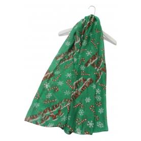 Χριστουγεννιάτικο φουλάρι με μοτίβα πράσινο