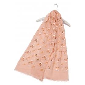 Χριστουγεννιάτικο φουλάρι με ταράνδους ροζ