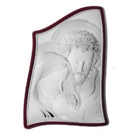 Ασημένια καθολική εικόνα Η Αγία Οικογένεια MA/E904-5 4,5 x 6 cm
