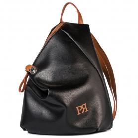 Γυναικείο σακίδιο πλάτης Pierro Accessories 09517DL56 μαύρο ταμπά
