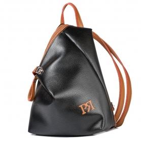 Γυναικείο σακίδιο πλάτης Pierro Accessories 09527DL56 μαύρο ταμπά