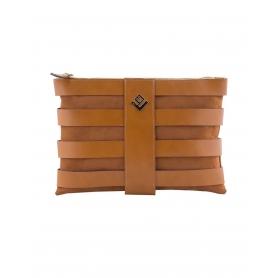 Γυναικεία τσάντα χειρός - ώμου Lovely Handmade Claudia Asti Tabac 6NN-L10-10