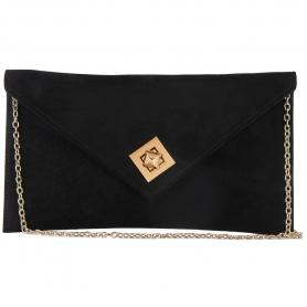Γυναικείο τσαντάκι φάκελος Pierro Accessories 90428KS01 μαύρο
