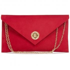 Γυναικείο τσαντάκι φάκελος Pierro Accessories 90428KS08 κόκκινο