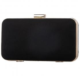 Γυναικείο τσαντάκι clutch Pierro Accessories 90449KS01 μαύρο
