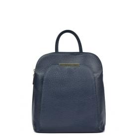 Δερμάτινη Γυναικεία τσάντα Backpack R1281C BLUE