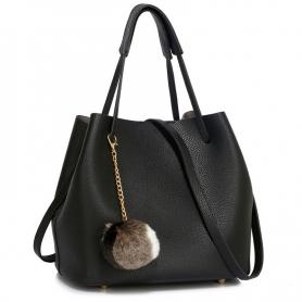 Γυναικεία Τσάντα Ώμου (Hobo) AG00190 Black
