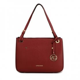 Γυναικεία Τσάντα Anna Grace Fashion Tote Handbag AG00570 - Burgundy