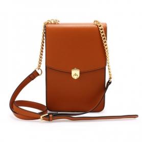 Γυναικεία Τσάντα Anna Grace AG00586 - Brown Flap Twist Lock Cross Body Bag
