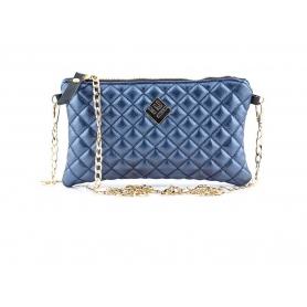Γυναικεία τσάντα χειρός - ώμου Lovely Handmade Elegant Remvi 7NM-LXC-34 Metallic Blue