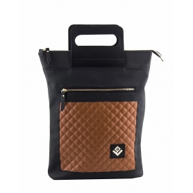 Γυναικεία τσάντα σακίδιο πλάτης - backpack / Tote Bag Lovely Handmade Victoria Remvi 7V-C-10 Tabac
