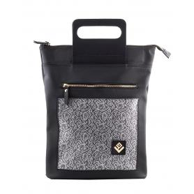 Γυναικεία τσάντα σακίδιο πλάτης - backpack / Tote Bag Lovely Handmade Victoria Stitch 7V-IN-03 Grey