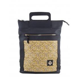 Γυναικεία τσάντα σακίδιο πλάτης - backpack / Tote Bag Lovely Handmade Victoria Stitch 7V-IN-19 Yellow