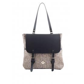 Γυναικεία τσάντα σακίδιο πλάτης - backpack Lovely Handmade Trusting Stitch 7BP-CIN-12 Brown