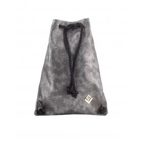 Γυναικεία τσάντα σακίδιο πλάτης - backpack Lovely Handmade Dourvas Hobo 7D-M-38 Gunmetal