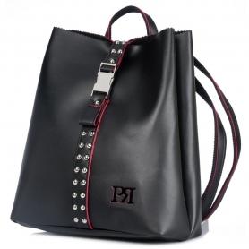 Γυναικείο σακίδιο πλάτης Pierro Accessories 00176EC01 μαύρο