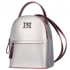Γυναικεία τσάντα σακίδιο πλάτης Pierro Accessories 90551EC22 Ασήμι