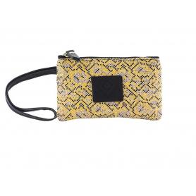 Γυναικείο πορτοφόλι Classic Lovely Handmade Stitch 7PU-IN-19 Yellow