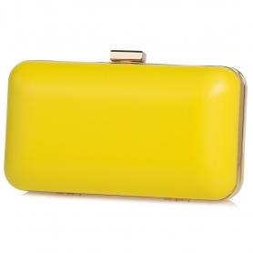 Γυναικείο τσαντάκι clutch Pierro Accessories 90449SY20 κίτρινο