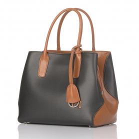 Γυναικεία τσάντα ώμου χειρός Pierro Accessories 90431EC56 Μαύρο - Ταμπά