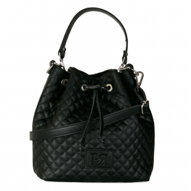 Γυναικεία τσάντα καπιτονέ πουγκί Pierro Accessories 90400KPT01 Μαύρο