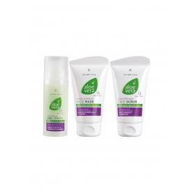 LR ALOE VIA Aloe Vera Fresh Σετ - Ειδική Τιμή Peeling Προσώπου 75 ml, Ενυδατική Μάσκα Προσώπου 75 ml, Gel-Κρέμα 20719-1