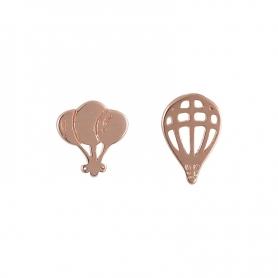 Ασημένια σκουλαρίκια ροζ χρυσό