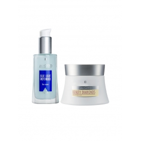 LR Beauty Diamonds Digital Care Σετ 71063-1 ορός Blue Light Defender 30ml και ZEITGARD Beauty Diamonds Κρέμα Ημέρας 30 ml