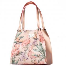 Γυναικεία τσάντα ώμου Pierro Accessories 90539EC90 flamingo