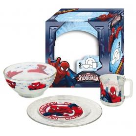 Γυάλινο παιδικό σετ φαγητού Disney Spiderman