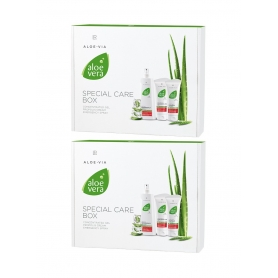 LR ALOE VIA Aloe Vera Box -Σπρέι Άμεσης Δράσης 400 ml, Ενυδατικό Συμπυκνωμένο Gel 100 ml και Προστατευτική Κρέμα με Πρόπολη 100 ml 94993-1