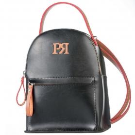 Γυναικεία τσάντα σακίδιο πλάτης Pierro Accessories 90551EC56 μαύρο ταμπά