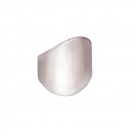 Δαχτυλίδι σε μοντέρνο σχέδιο απο ασήμι επιπλατινωμένο