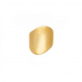 Δαχτυλίδι από επιχρυσωμένο ασήμι σε μοντέρνο σχέδιο