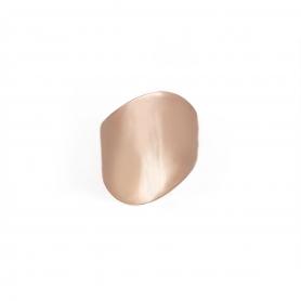 Μοντέρνο δαχτυλίδι σε ροζ επιχρύσωμα από ασήμι