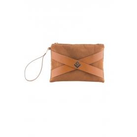 Γυναικεία τσάντα Χειρός Lovely Handmade Carolina Asti 8CAR-L-10 Tabac